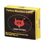 Tattoo Machine Covers - Box of 1000. Blue, transparent. Manufactured by CAM Supply Inc. Great quality & price.