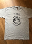 Retro style Jungle Tattoo Supplies t-shirt. Tiger design in grey. Design by Nathan Green. Available Mens & Ladies S-XL.