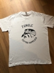 Retro style Jungle Tattoo Supplies t-shirt. Snake design in white. Design by Nathan Green. Available Mens & Ladies S-XXL.